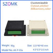 Caja de Proyecto de plástico de 10 Uds., 115x90x40mm caja de carril din con conectores szomk caja de instrumentos superventas