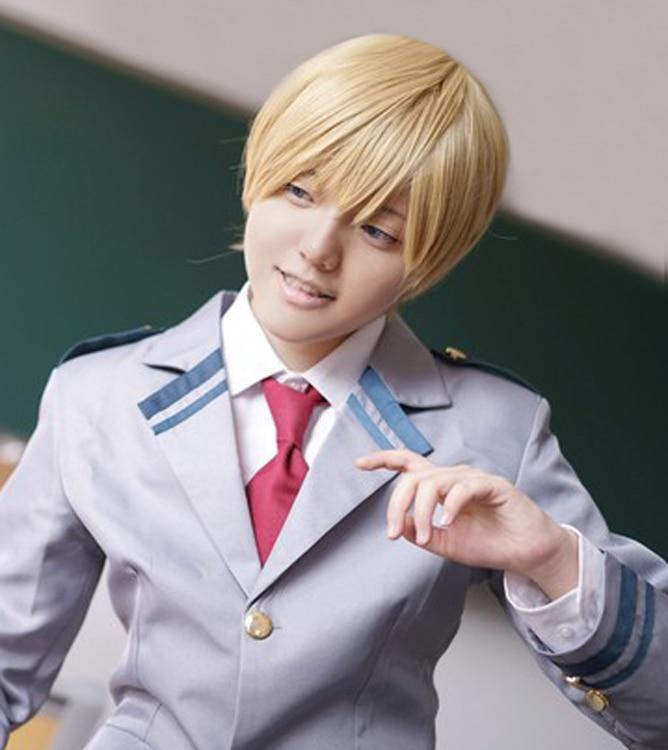 My Hero Academia Monoma Neito Short Linen Blonde Heat Resistant Anime Cosplay Costume Wig