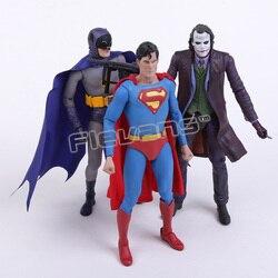 """Neca dc comics batman superman o joker pvc figura de ação brinquedo colecionável 7 """"18 cm 3 estilos"""