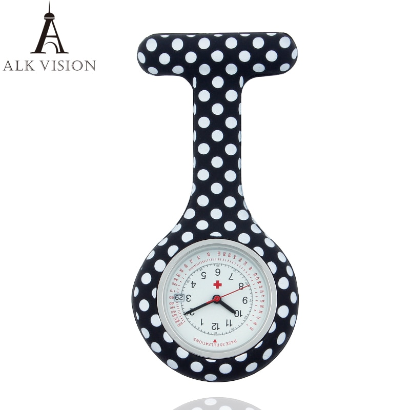 Dots Silicone Nurse Watch Calendar Fob pocket medical gift for nurse doctor hospital watches accept OEM service ALK VISON фото
