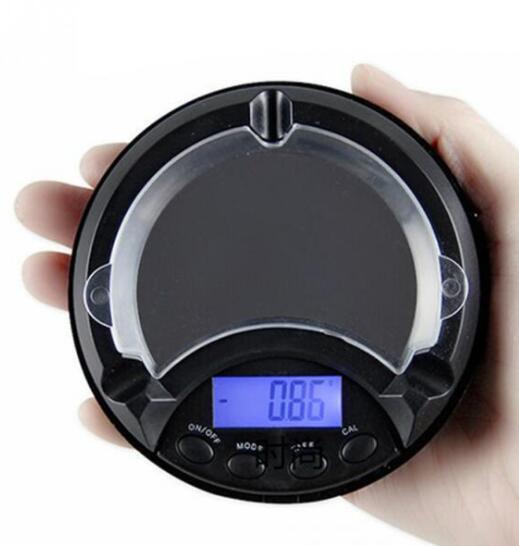 Цифровые весы Мини ЖК-дисплей цифровые весы пепельница ювелирные изделия травы электронные весы измерения с подвижной верхней крышкой