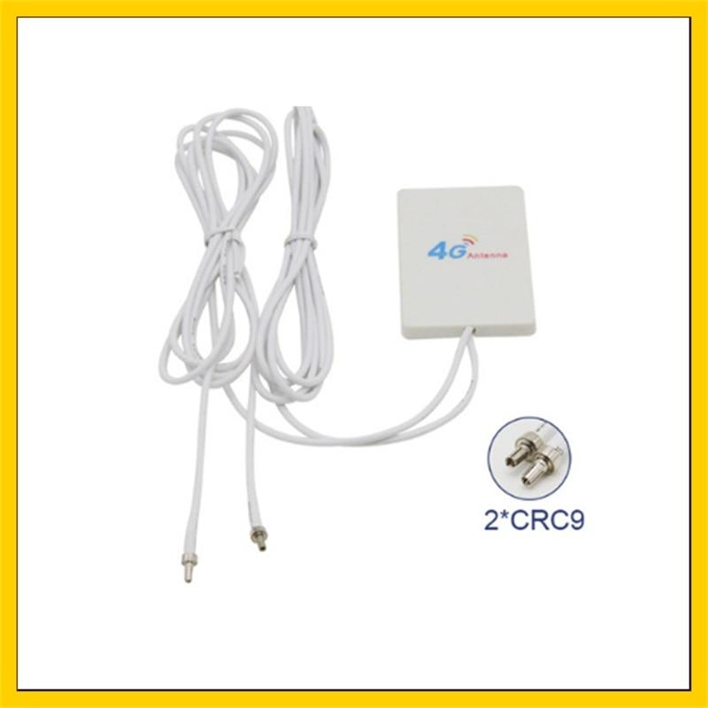 20 قطعة هوائي داخلي 3g 4g Lte 2 * SMA/2 * CRC9/2 * TS9 ذكر موصل الداعم Mimo لوحة هوائي 2 متر
