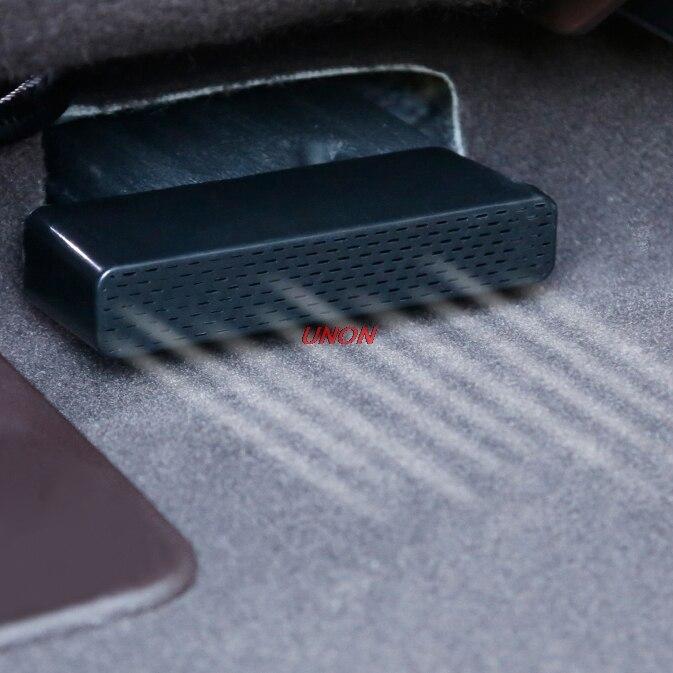 Bajo el asiento trasero AC calentador de piso aire acondicionado adhesiva rejilla salida Protector de cubierta para Lexus ES200 260, 300 h 2018, 2019