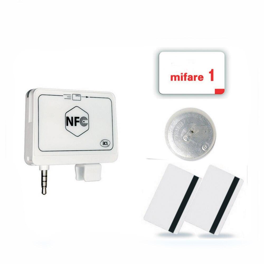 ACR35 NFC MobileMate lector de tarjeta untuk ponsel algoritma dan DUKPT kunci sistema + inglés SDK