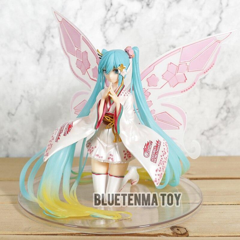 Haocaitoy Hatsune Miku Kimono asistido carreras Hatsune modelos de muñecas en PVC Rosa Leprechaun Anime figuras para regalo Juguetes