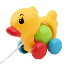 Mignon Pull jouet jouets de plein air petit canard chiot infantile enfant en bas âge corde bébé jouets hochets poussette jouet