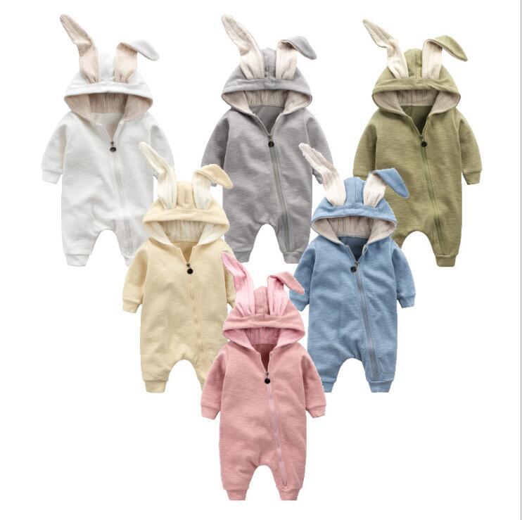 Одежда для малышей, комбинезон-кролик, костюм для новорожденных, детская одежда, комбинезон для мальчиков и девочек, Детский комбинезон с кр...