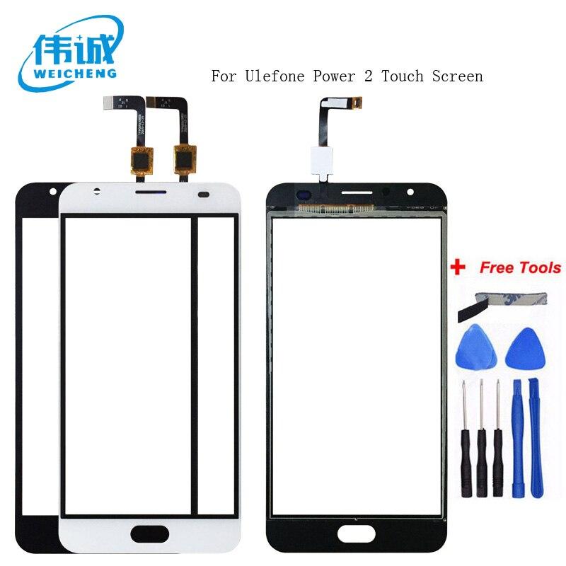 WEICHENG de alta calidad para 5,5 pulgadas Ulefone Power 2 pantalla táctil lente Sensor panel táctil de reemplazo accesorios móviles + herramientas