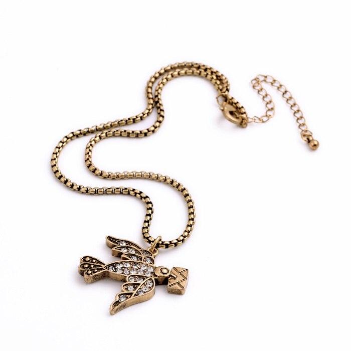 Precio a granel paloma de la paz collar más delgado Grecia estilo accesorio asequible