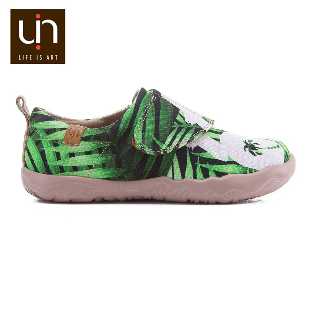 UIN Aloha Love Design Casual Shoes Toddlers Hook & Loop Soft Canvas Flats for Boys/Girls Sneakers Outdoor Little Kids Shoes enlarge