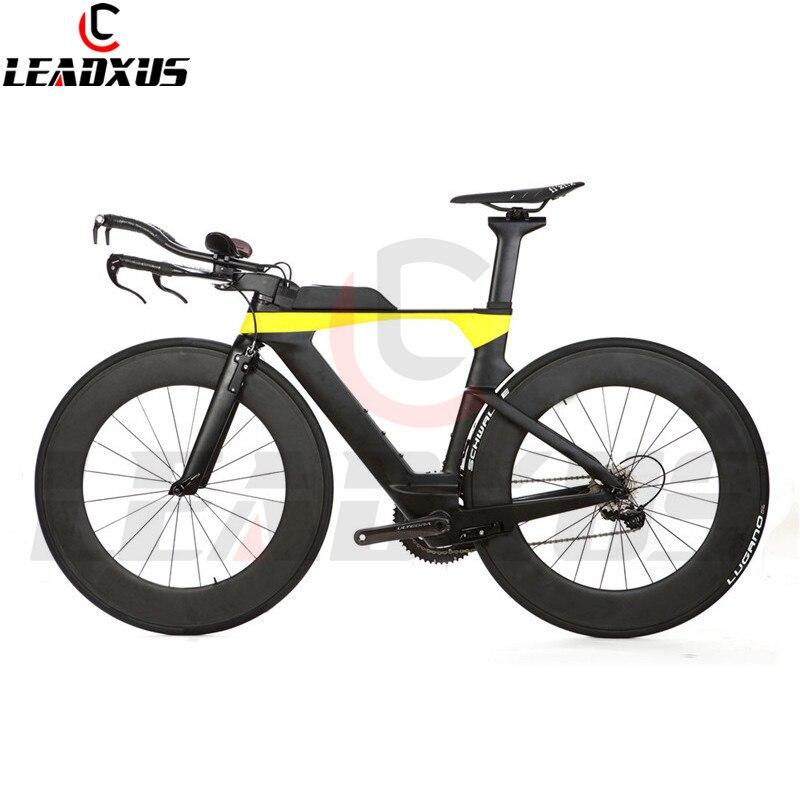 Leadxus kx3000 tt tempo completo da bicicleta triathlon quadro de carbono + 88mm roda carbono guiador r8000 grupo sela