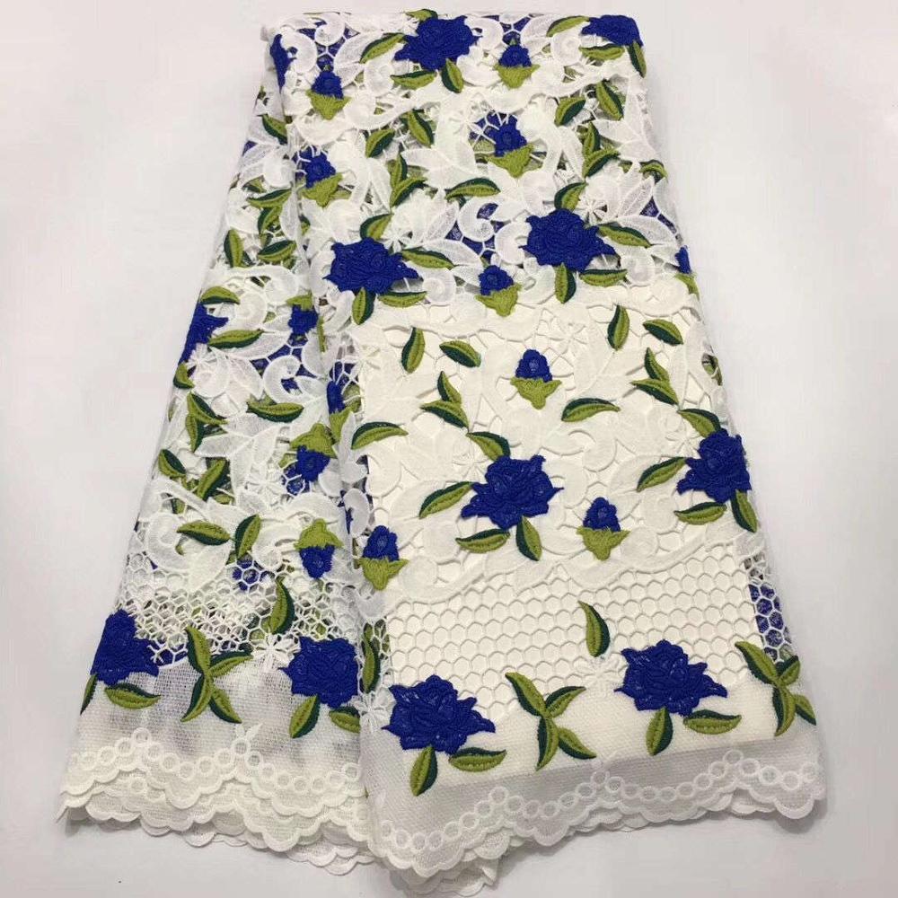 Tela de encaje de tul francés nigeriano bordado de malla de color africano tela de encaje de guipur con piedras para vestido de fiesta NNX-004