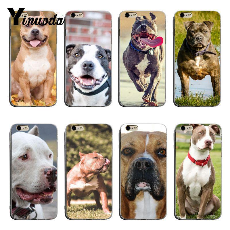 Yinuoda Pitbull, perro Bulldog superior detallada Popular caja del teléfono para iPhone 8 8plus 7 7plus 6 6s 6sPlus XSMax X XS X XR