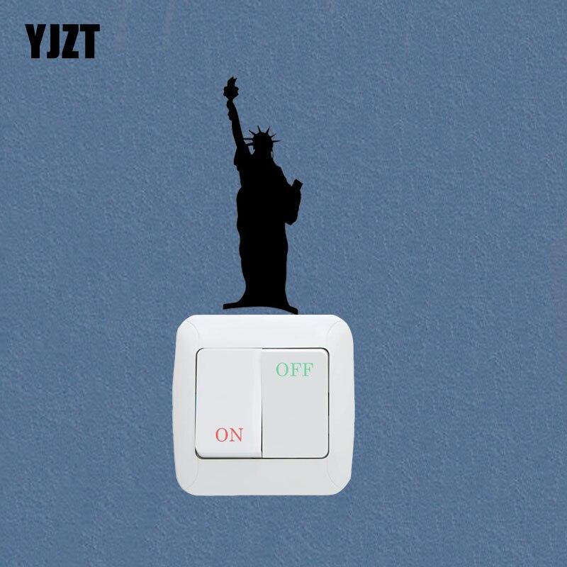 Статуя Свободы Нью-Йорк модный спортивный декор настенные наклейки переключатель наклейки 7SS0874