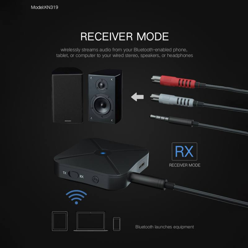 2 in 1 Wireless Bluetooth Transmitter Receiver TV Car Music Receiver Universal 3.5mm Audio Adapter For Headphone Speaker enlarge