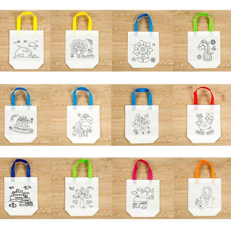 DIY bolso con grafiti de protección del medio ambiente, pintura hecha a mano, bolsos de mano para guardería, puzles para niños, regalos para niños, MAY-9