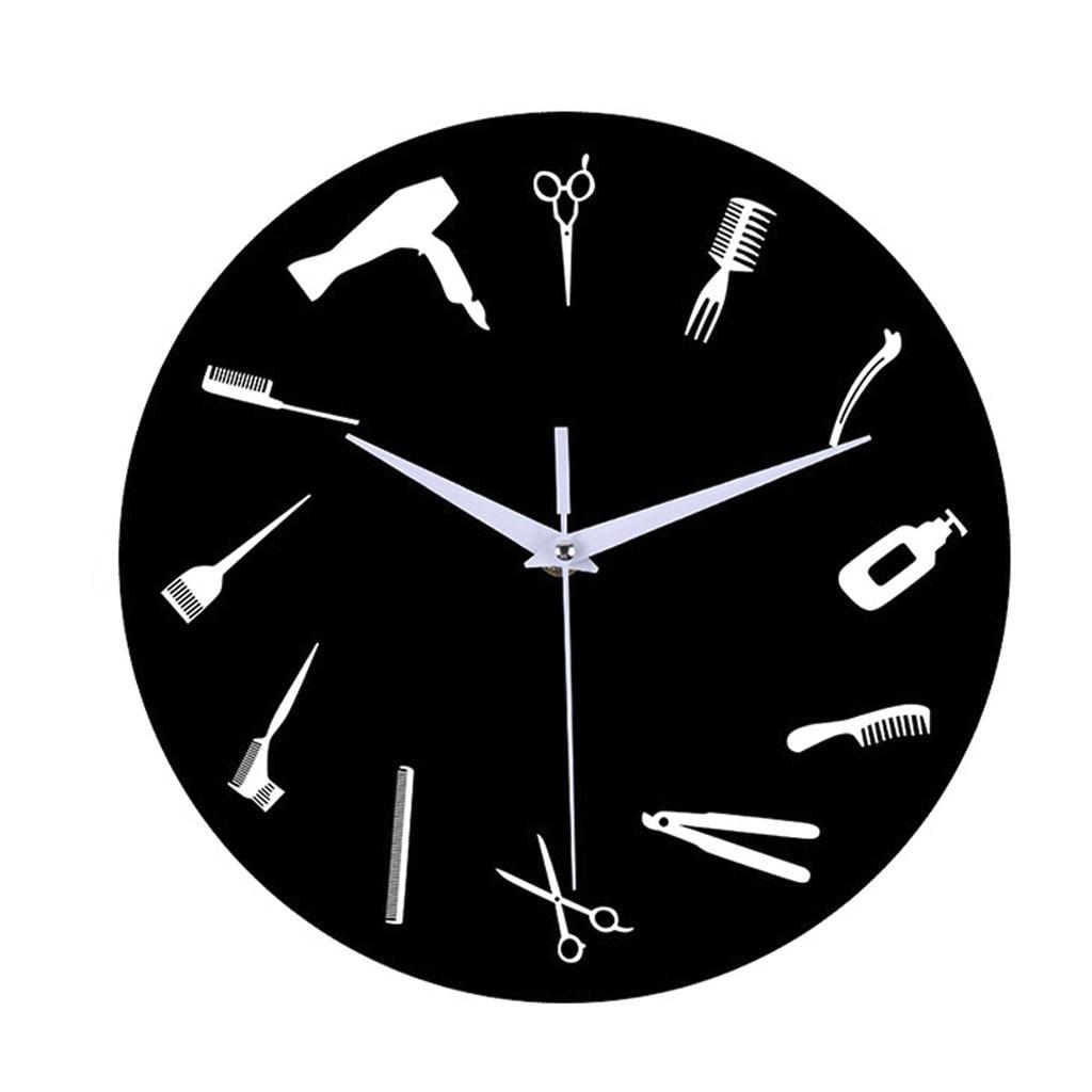 DIY парикмахерские гигантские настенные часы с зеркальным эффектом, парикмахерские инструменты, декоративные Безрамные часы, парикмахерские настенные часы