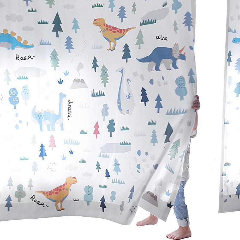 Cortinas de dinosaurio Budloom para habitación de niños cortinas de dibujos animados para habitación de niños bonitas cortinas de ventana para dormitorio