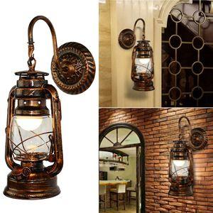 Винтажный светодиодный настенный светильник в стиле ретро, керосин, настенный светильник в Европейском деревенском стиле