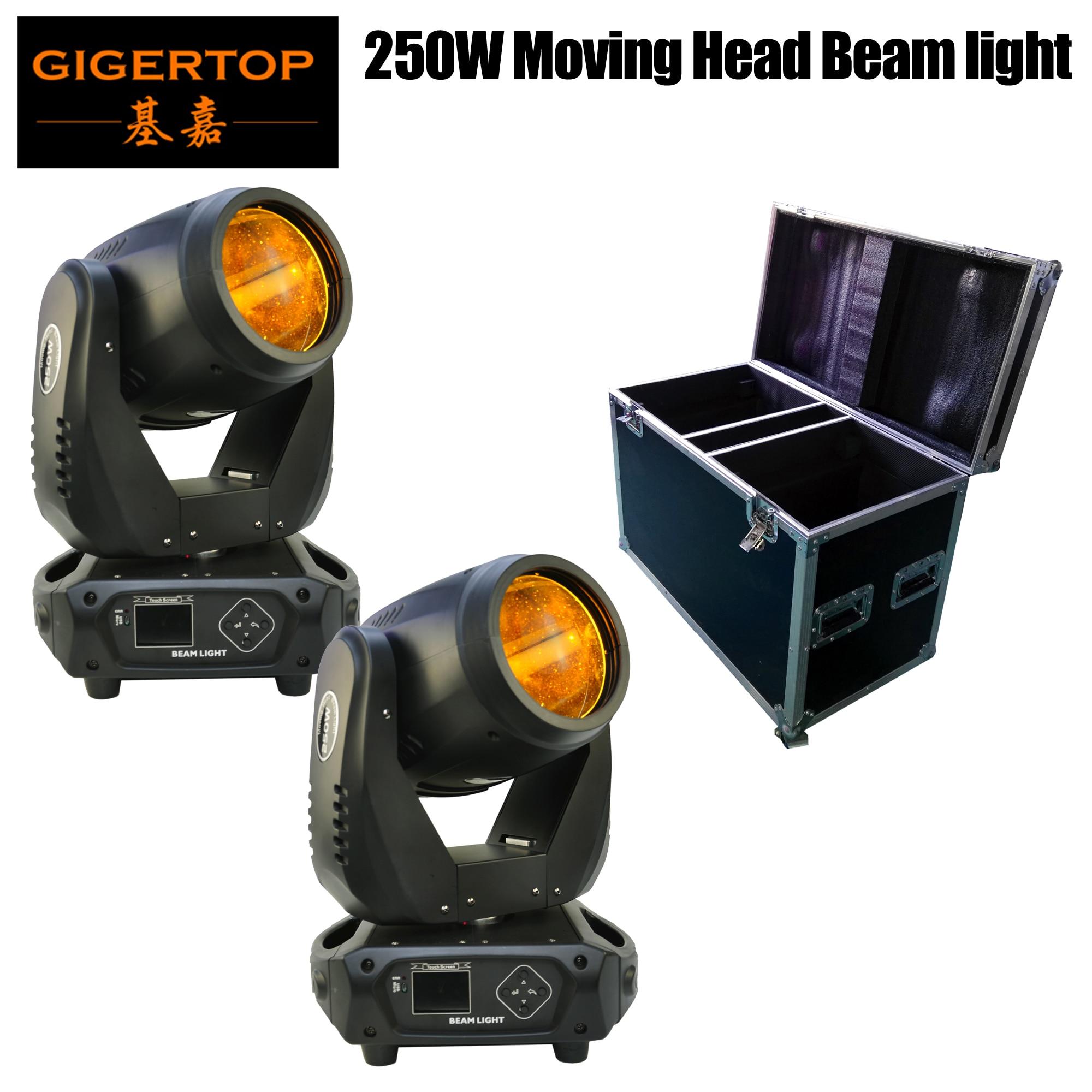 2IN1 упаковочный кофр 250W высокая мощность Sharpy Beam движущаяся головка свет DMX512/Звук/автоматическое управление Светодиодный дисплей Power Con