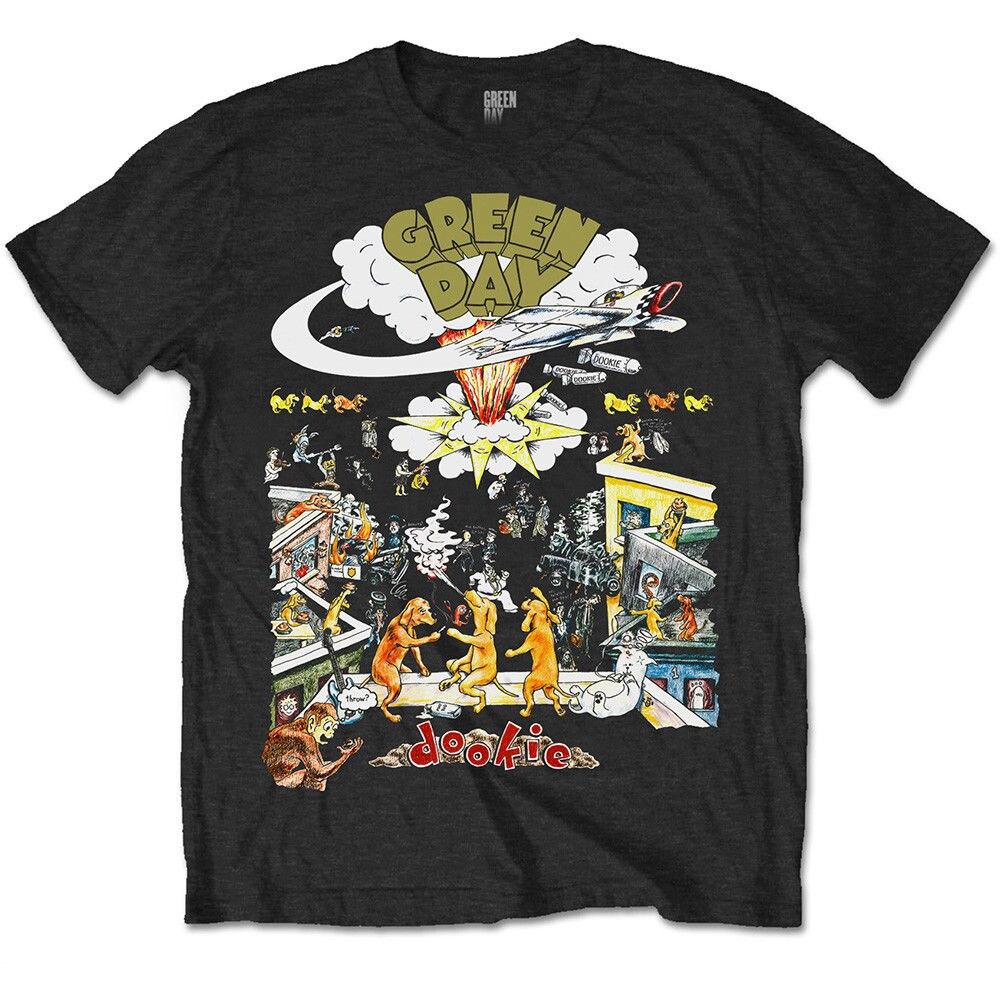 Green Day 1994 Dookie Live Tour Punk Rock camiseta con licencia para hombre 2018 nuevas camisetas de moda para hombre corto Anime