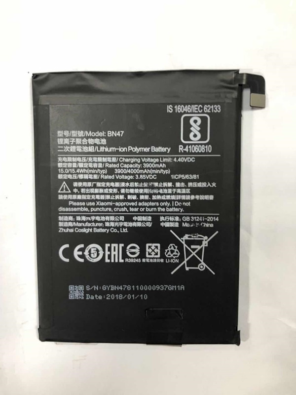 100% Original Backup For Xiaomi Battery For For Xiaomi BN47 Smart Mobile Phone+ + Tracking Number+ In Stock enlarge