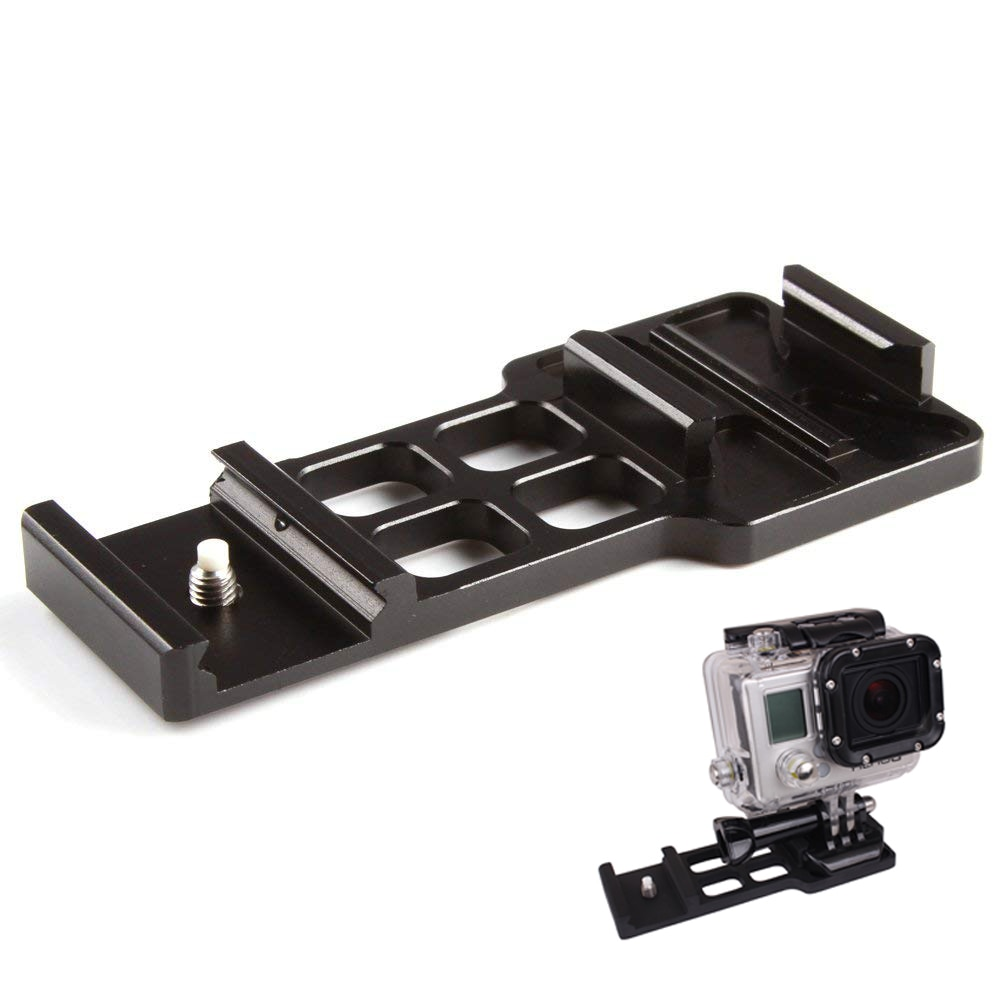 Cantilever Camera Picatinny Weaver Gun Rail Side Mount for Gopro Hero 4/3+/3/2/1 Camera