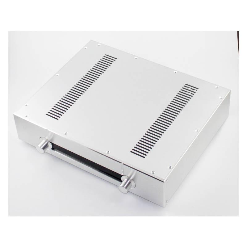 KYYSLB WA39 aluminio completo plata Honme amplificador chasis imitación Gawain preamplificador AMP carcasa de amplificador caja DIY