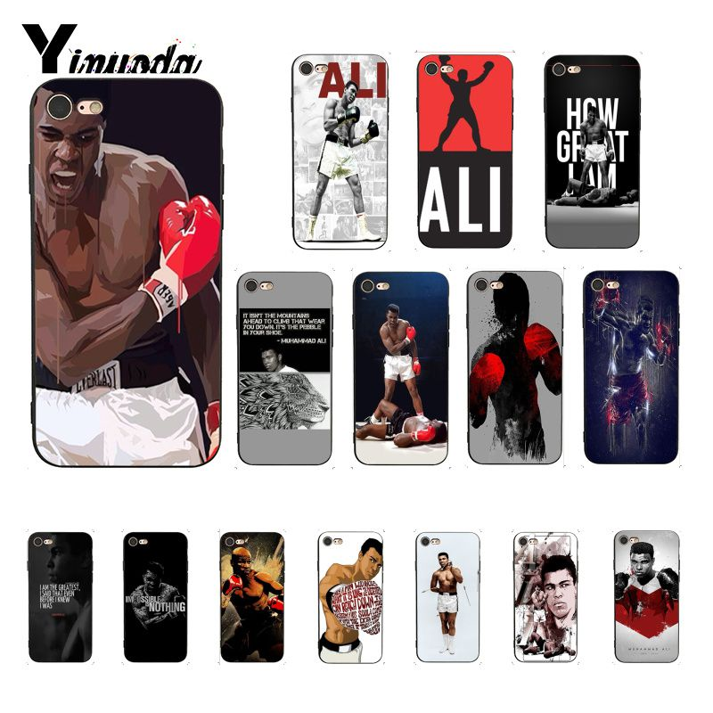 Yinuoda muhammad ali campeão de boxe novidade capa do telefone para o iphone se 2020 8 7 6 s 6 plus x xs max 5 5S se xr capa