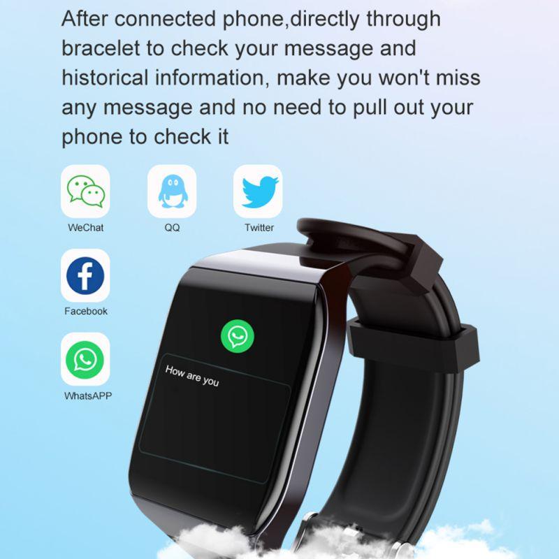 Pulsera inteligente KY117 con pantalla táctil a Color con Monitor de ritmo cardíaco ECG reloj de presión arterial IP68 Fitness Tracker Wrisatband