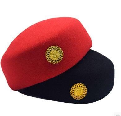 aliexpress.com - adults airline stewardess cap music cap honour guard hat hotel reception uniform cap navy hat performance cap waitress hat