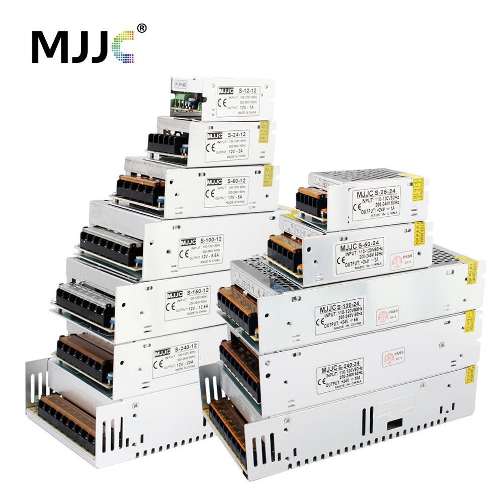 DC 24V Power Supply 12 Volt 1A 2A 5A 10A 20A 110V 220V to 12V Power Supply 24 Volt Transformer LED Driver for LED Strip Tape недорого