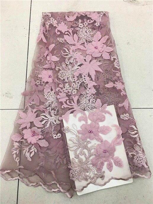 África nueva llegada bordados de cordones tela con encaje de red francés Oro africano thead de tul y encaje de tela azul gris rosa