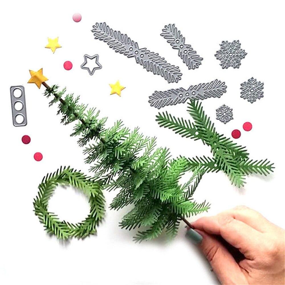 Troqueles de Metal corona árbol navidad plantilla para álbum de recortes papel...
