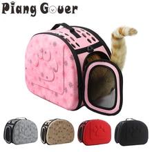 Dog Carrier Bag Portable Cats Handbag Foldable Travel Pet Bag Puppy Carrying Mesh Shoulder Pet Bags S/M/L