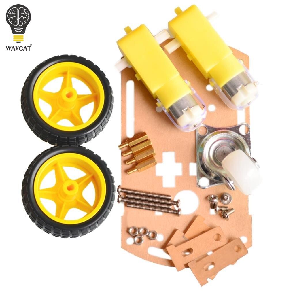 WAVGAT mart шасси автомобиля Трассировка автомобиля робот шасси автомобиля с кодовый диск Тахометр для Arduino