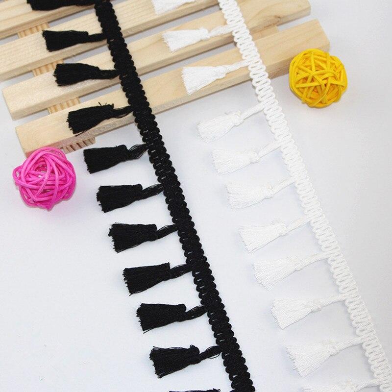 Borla elegante de encaje 4,2 cm, encaje elegante de algodón 100% hecho a mano, accesorios DIY para el hogar, decoración de cortinas, ropa de costura, 4 yardas