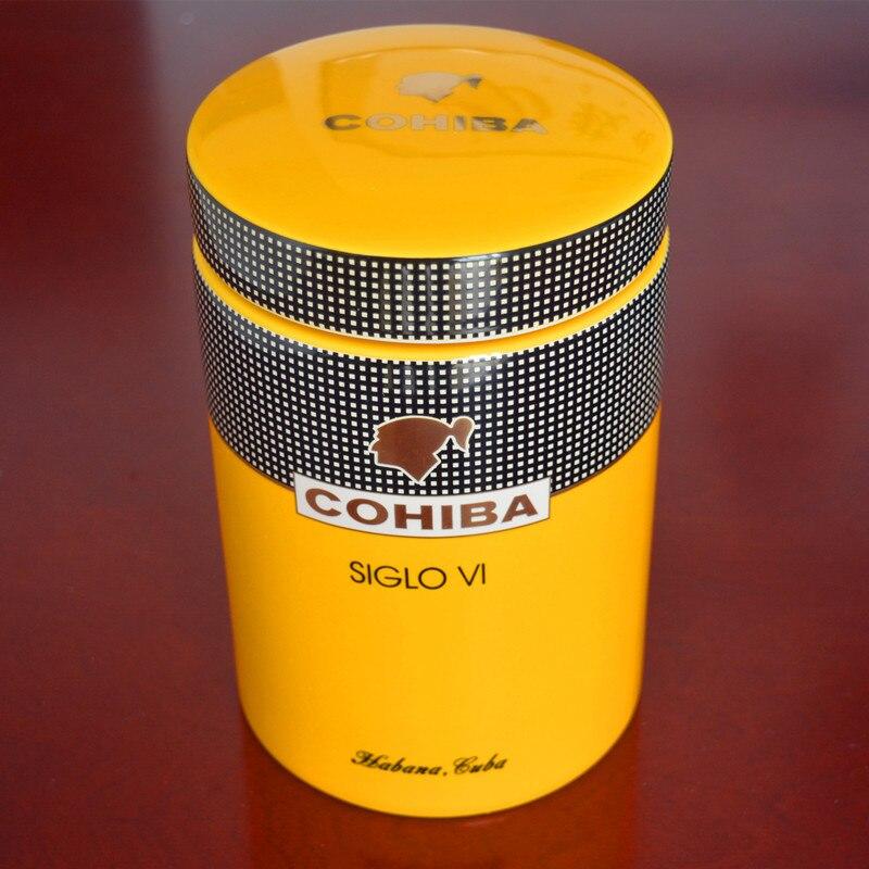 COHIBA гаджет классический желтый цилиндрический SIGLO VI Sheeny фарфоровая керамическая сигаретная трубка герметичная банка мини Humidor с Gfit коробко...
