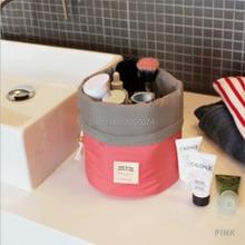 Barrel Shaped Travel Cosmetic Bag Make Up Bag Drawstring  Drum Wash Kit Bags waterproof send by dhl 100pcs