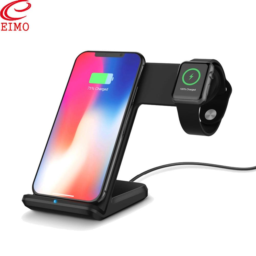 Station EIMO pour Apple Watch 4/3 support iPhone 8 Plus XS iWatch band 42/44/38mm sans fil Charge Samsung S9 S8 accessoires de montre
