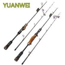 YUANWEI Locken Angelrute 1,98 m 2,1 m 2,4 m 2 Abschnitt Carbon Fiber Spinning Stange ML M MH Power schnelle Action Holz Griff Vara De Pesca