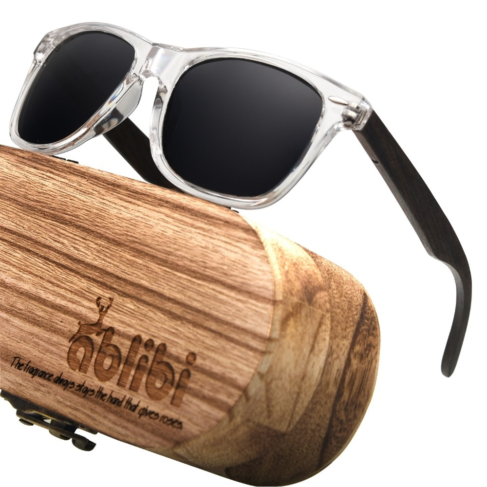 Ablibi gafas de sol polarizadas para mujer, gafas de sol de madera de bambú para hombre, gafas de sol UV 400 polarizadas oscuras en caja de madera