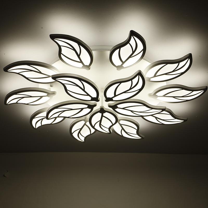 Lámpara de techo moderna para dormitorio, accesorios de techo de hojas, Luces...