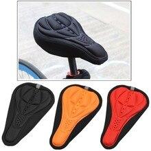 1 PC À Moda Preto Ciclismo MTB Da Bicicleta Da Bicicleta Silicone Gel Almofada Macia Pad Saddle Seat Cover