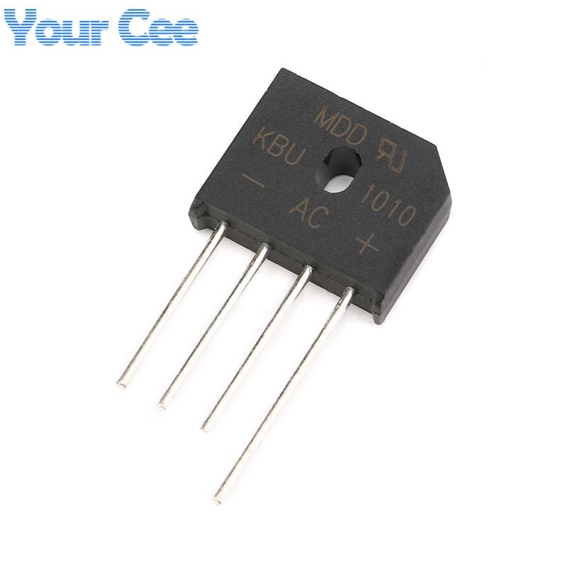 5 uds Puente rectificador de diodo KBU1010 10A 1000V