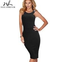 Nizza-per sempre Vintage Sexy Blackless Club vestidos Rotonde abiti Collo Del Partito Aderente Fodero Femminile Delle Donne Del Vestito bty567