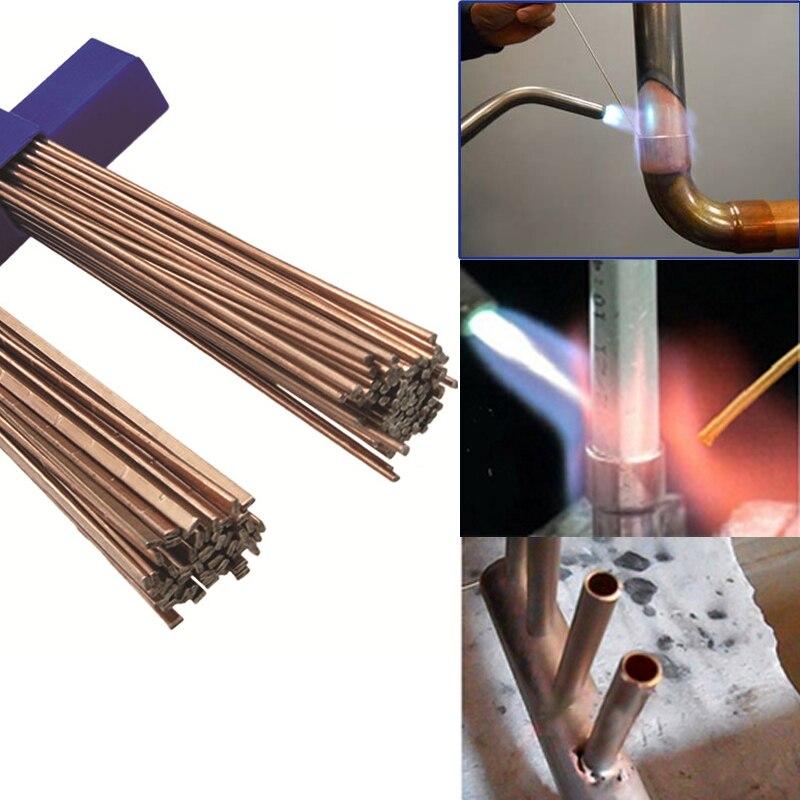 Urijk 5/10/20 Uds. Varillas de soldadura de alambre de latón, conjunto de varillas de soldadura de electrodo, varilla de soldadura de 1mm/1,5mm/2mm/2,5mm/3,0mm/1,3mm * 3,2mm