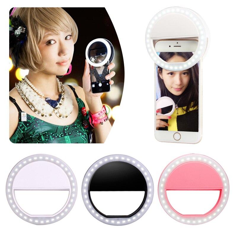Портативный мобильный телефон Selfie Light Clip On Lamp LED Flash Phone Ring для Iphone Samsung Прямая