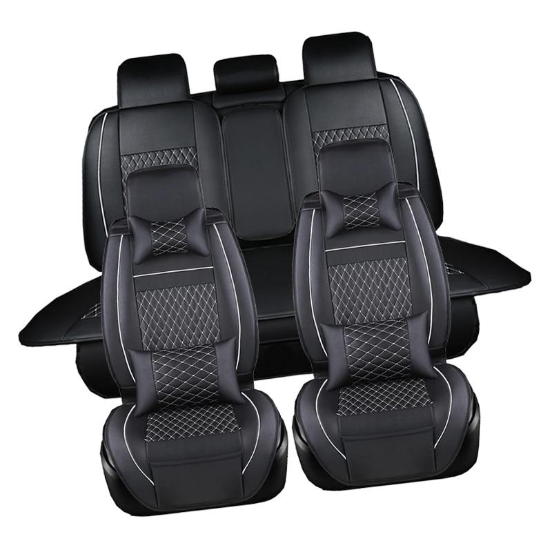 Saudável Quatro Couro Pu Assento de Carro Universal Abrange Todos Os Modelos Do Carro Styling Lugar Para Dacia Solenza 1310 Duster Logan Sandero