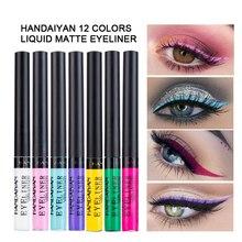 HANDAIYAN Black Liquid Eyeliner Pencil Eye Makeup Quikly Dry Long Lasting eye liner Pen Tools Makeup Cosmetics 12 Color TSLM2